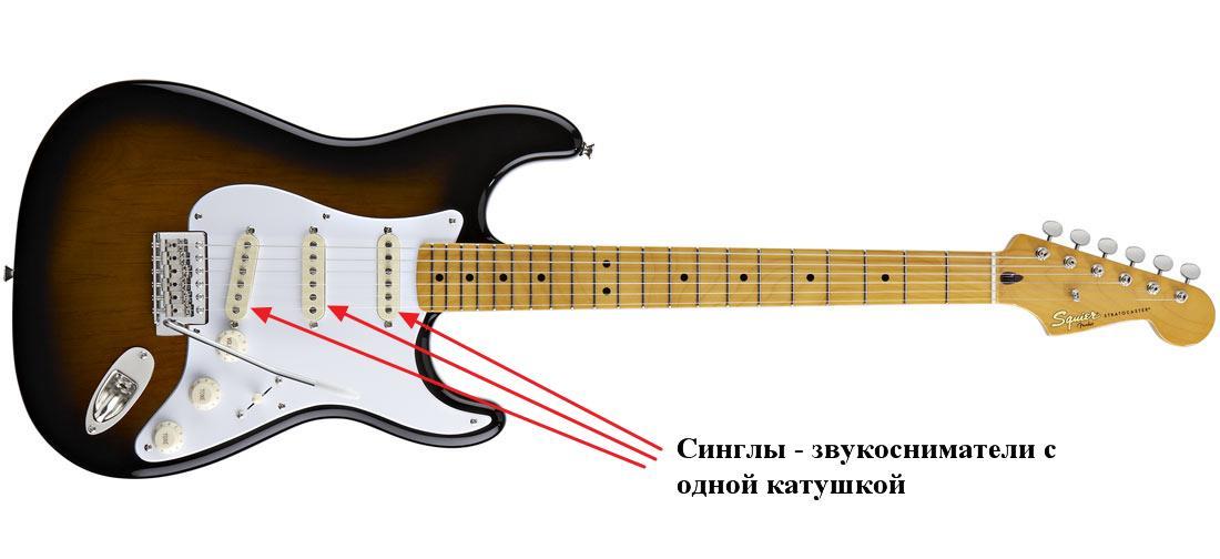 гитара с синглами