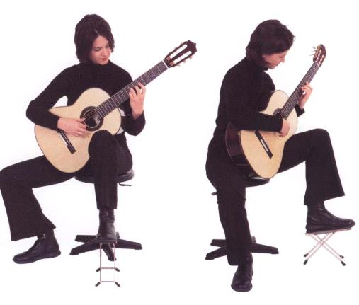 классическая посадка для гитариста