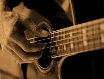 постановка правой руки на гитаре