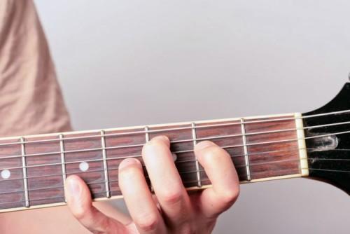 гамма на гитаре