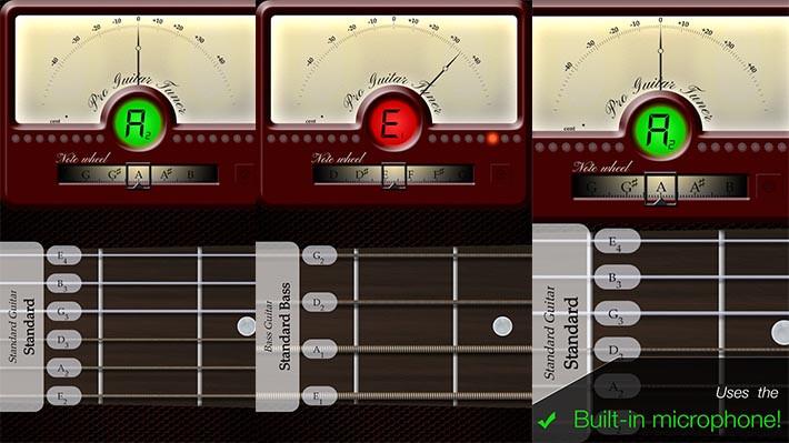 Гитарный тюнер онлайн от Pro Guitar Tuner
